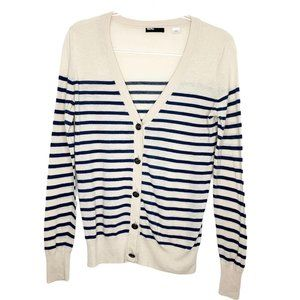 Urban Outfitters BDG Striped Cardigan Blue Cream